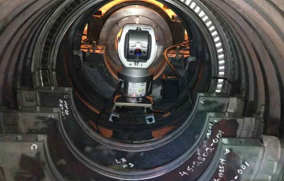 Using MAGIE Curved Surfaces Bracket for Internal Alignment on Gas & Steam Turbines